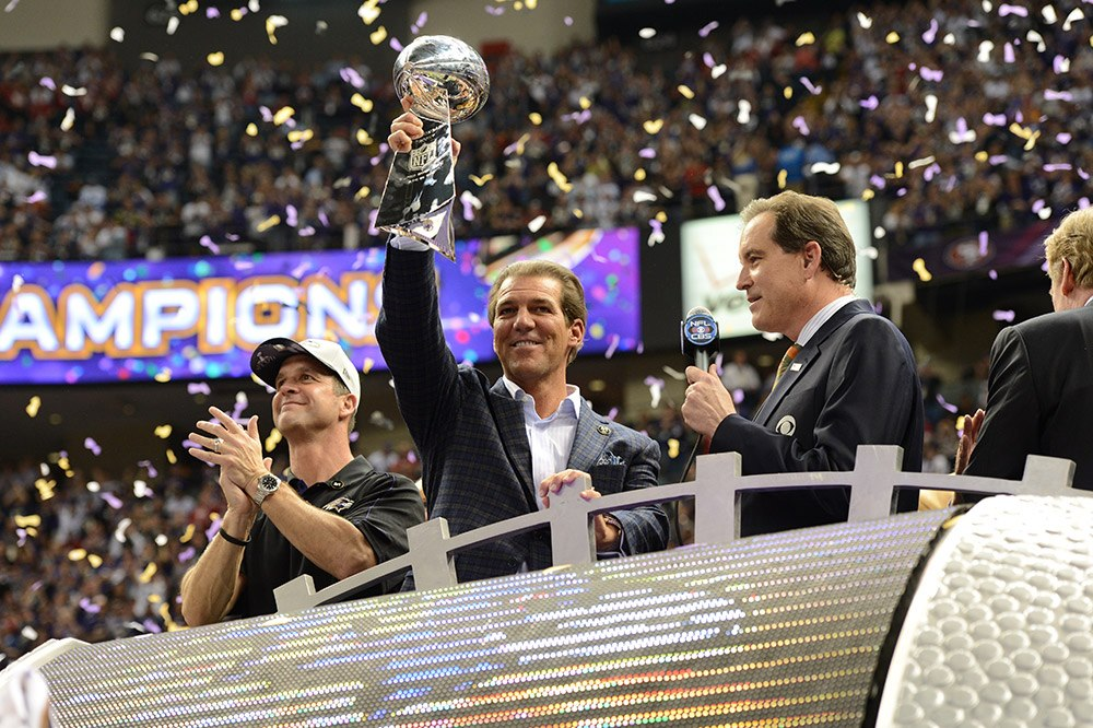 The Vince Lombardi Trophy is coming back to Baltimore.